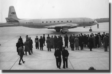 The Comet arrives in Copenhagen March 1951
